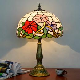 glasfenster schreibtisch lampen Rabatt ODIFF American Pastoral Red Jubilation Bar Beleuchtung Wohnzimmer Esszimmer Schlafzimmer Nachttisch Kinderzimmer Glasmalerei Schreibtischlampe