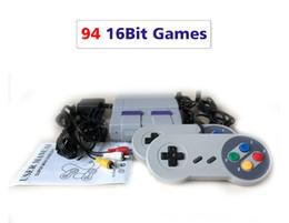 Wholesale nes snes - 10PCS 16bit Classic SFC TV Handheld Mini Game Console Good Quality 16 bit Game System For 16bit 94 SFC NES SNES Games Consoles