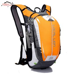 black yellow sports backpack Promo Codes - Outdoor Bicycle Bags MTB Road Bike Backpacks Waterproof Sports Breathable Cycling Backpack Hiking Riding Bag 18L For Men Women