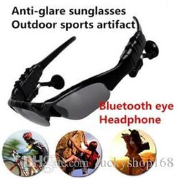 Wholesale earphone glasses - HIFI Bluetooth Headset Sunglasses Stereo & Monophonic handfree glasses headphone for Cell phone Wireless Earphone free shipping