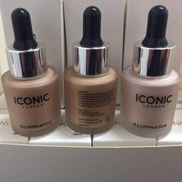 Wholesale Original Makeup - Iconic London Illuminator Liquid Highlighter In Shine Original Shine Glow Three Color Face Makeup Highlighter 3 Color 13.5ML 3001115