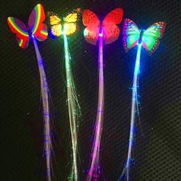 2019 fiação de fibra óptica Cabeça peruca Stands Moda Moderna LED Light-Emitting Fio De Fibra Óptica Hairpin Luminosa Airpin Tranças De Seda ABS Drop shipping July12 desconto fiação de fibra óptica