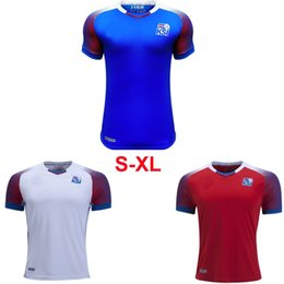 Wholesale rugby team jerseys - 2018 Iceland National team Home Away Jersey world Cup SIGURDSSON SIGTHORSSON football uniform Szie S-2XL Free shipping!