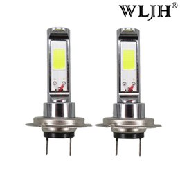 Wholesale Honda Headlights Bulbs - WLJHLed H7 Lamp Light of CREE Chip COB H7 Headlights Fog Light Driving Daytime Bulb Car DRL For Kia For Honda For Ford