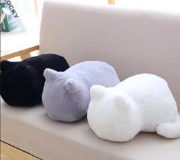 candice guo! Il cuscino grasso eccellente del gatto dell'ombra del giocattolo sveglio eccellente della peluche tiene un cuscino di bambola farcito molle del gatto il regalo di Natale di compleanno 1pc da