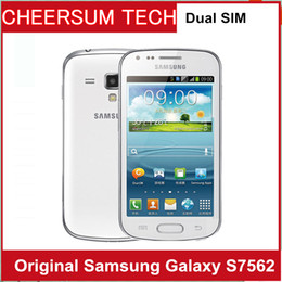Wholesale Galaxy Phones Sale - 2016 Sale Direct Selling S7562 Original Samsung Galaxy S Duos S7562 Dual Sim Cards 4.0'' Wifi Gps 5mp Camera Unlocked Cell phone 30PCS DHL