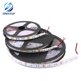 Wholesale Green Diodes - LED strip light DC 12V 5M 60LEDs m IP20 IP65 IP67 Waterproof 5050 SMD LED string light RGB led lamp Tape diode ribbon