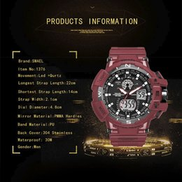 Wholesale Multifunction Quartz Movement - Quartz Movement Watch SMAEL Men Wrist Watch Multifunction Dual Display
