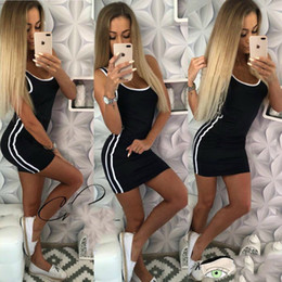 31e4264d2b181 2018 Summer Women Sexy Fashion Vest Dresses Sleeveless Strap Hot Sundress  Slim Party Elegant Feminina Mini Tank Female Vestidos