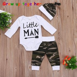 Wholesale Handsome Baby Boys - On instagram, new baby l harl three sets of children's arrow green camouflage suit, baby's uniform, handsome.