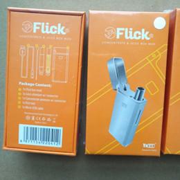 Tappo per tappo online-Authentic Yocan Flick 2in1 cartucce per vape Starter Kit 650mAh Battery Box Mod Wax Olio denso Atomizzatori Flick Cap Vaporizzatore penne cartucce