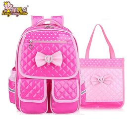 Wholesale School Bags Girls Princess - Cartoon Cute Girl Student School Bag Waterproof Butterfly Children School Bag Super Light Pupil Backpack Princess Bookbag B328