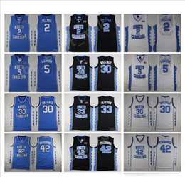 Wholesale bright brown - College Basketball North Carolina Tar Heels Jerseys 42 Jerry Stackhouse 30 Rasheed Wallace 33 Bright Antawn 2 Raymond Felton 5 Ty Lawson