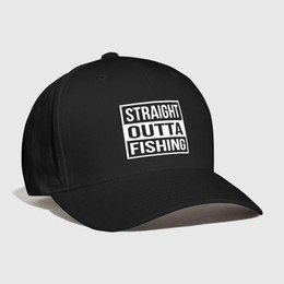 Straight Outta Fishing Squared Embroidered Customized Handmade father  Holiday Sea hook wildlife salmon Hobbies Curved Dad hat straight cap hats  deals 4e85936f0226