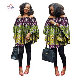 Wholesale Rich Black Printing - BRW 2017 Summer African women tops rich print wax tops loose style upper outer garment africaine bazin femme clothing WY1355