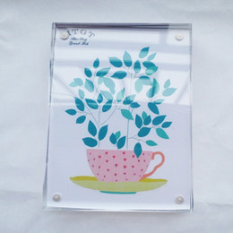 Wholesale Magnet Rectangle - 5*7inch clear acrylic photo frame with magnets