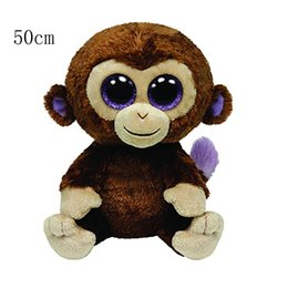 "Wholesale Large Plush Bears - Ty Beanie Boos 20"" 50cm Coconut the Monkey Large Plush Stuffed Animal Collectible Soft Doll Toy"