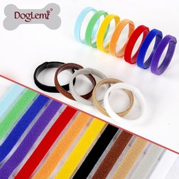 Wholesale Monitor Strap - New Arrival Nylon Pet Neck Strap Colorful Dog Cat Identity ID Tags Easily Monitor And Adaptable Puppy Collars Popular 9pt B