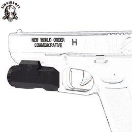Lanterna de linha de trilho on-line-Sinairsoft Tactical APL AUTO Pistola de Luz Constante Momentary strobe LED 200 Lumens Lanterna Com MIL-STD-1913 Trilhos Para Airsoft / Hundgun