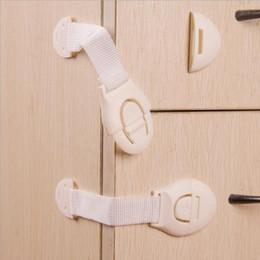 Nevera de seguridad para bebés online-Kids Drawer Lock Baby Safety Lock Puerta adhesiva Armario Armario Nevera Cajón Cerraduras de seguridad Cerraduras de seguridad Correas OOA4517