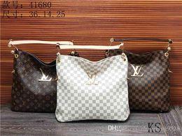 Wholesale Handbags Name Brands - 2018 styles Handbag Famous Designer Brand Name Fashion Leather Handbags Women Tote Shoulder Bags Lady Leather Handbags Bags purse 41608