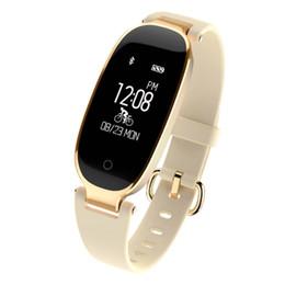 Wholesale girls camera phone - S3 Smart Watch Fashion Sport Bluetooth Smart Wristband Phone Smart Clock Heart Rate Monitor Smartwatch For Women Girl