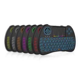 Proiettore universale a distanza online-Tastiera mini retroilluminazione a colori 7 tastiere H9 2.4G Fly Air Mouse Telecomando universale per TV Box Proiettore Tastiere PC con Touchpad