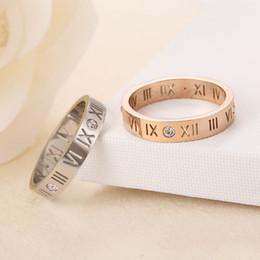 diamante de ouro coreano Desconto Numeral romano anel de diamante casal cauda anéis versão coreana de ouro rosa 18K jóias homens e mulheres anéis GGA1002