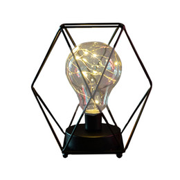 Wholesale read diamond - Retro Iron Art Night Lights Minimalist Night Light Diamond Reading Lamp Polygon Table Lamp