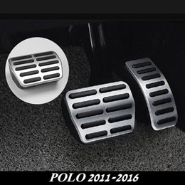 Wholesale Gas Brakes Clutch Pedals - For VW Polo 2011-2016 Aluminium Alloy Clutch Accelerator Gas Brake Clutch Pedal for POLO 2014 2015 2016