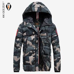Erkekler Kamuflaj Pamuk-Yastıklı Ceket Kış Marka Sıcak Kalınlaşmak Coats Yüksek Kalite Iş Cep Ünlü Ordu Bombacı nereden