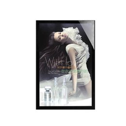 Wholesale Lighted Poster Sign - 50*70cm High Brightness Outdoor Advertising Light Box Poster Display Illuminated Panel Store Outside Wall Mounted Illuminated Sign Box