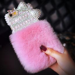 großhandelsgalaxie-abdeckungsdiamant Rabatt Großhandel Luxus Bling Diamant Bowknot Kaninchen Pelz Furry Warm Fall Deckung für Samsung S3 S4 S5 S6 S7 S8P für Galaxy Note 3 4 5 8 9