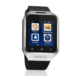 Двухъядерный диапазон онлайн-S8 Smart Wristwatch Fitness 1G Dual Core For Android4.4 Smart Watch Silver GPS Chip Ultra Call Reminder Band