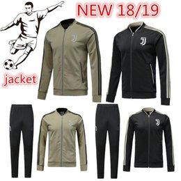 Wholesale Combinaison d entraînement de haute qualité Juventus RONALDO D COSTA uniforme de football DYBALA MANDZUKIC veste grossiste