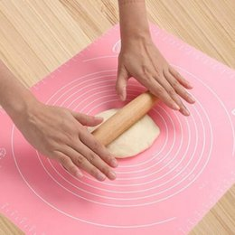 stuoia di fondente fondente Sconti Con la scala di grandi dimensioni in silicone Cake Cake Rolling Impastare la stuoia di cottura con scala Rolling Cut Mat pasta di argilla fondente Strumenti di pasta glassa.