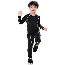 Novos Conjuntos de Treinamento de Crianças Survetement Futebol Correndo 2 pcs Conjuntos de Veludo Jogging Calças Justas Ginásio de Fitness Camisas Calças Elásticas Respirável de