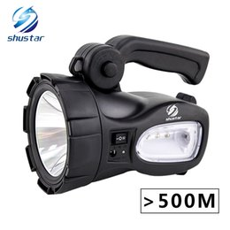 Wholesale Building Camps - Rechargeable Bright LED Flashlight Torch 20W High powered searchlights Built-in 2300mAh lithium battery Two working modes
