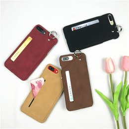 Wholesale Luxury Handmade Iphone Case - New PU Case for iPhone 6S Card Holder Flip Cover for iphone 6 Handmade luxury Ultra Slim Phone Case 5.5 holster