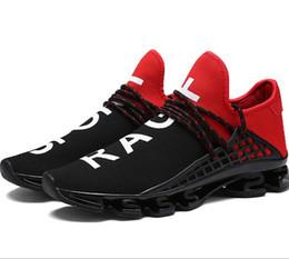 Federblatt läuft online-NEUES großes Codefrühlingsblatt, das Frühlingsschuhe han Version der Netzoberfläche breathable gehende beiläufige Schuhe, Schuh der großen Yards Männer 36-48G0.6 läuft