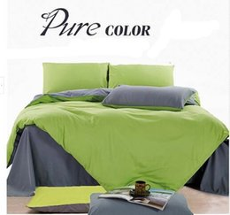 Wholesale king size doona covers - NEW Pure Single Double Queen King Size Bed Quilt Doona Duvet Cover Set