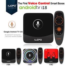 Wholesale Uk Red - iLEPO i18 Smart Google Voice Control Android TV BOX S905W 2GB 16GB Quad Core Netflix HD Youtube 4K WAG25X Stalker IPTV X96 mini S912 T95Z