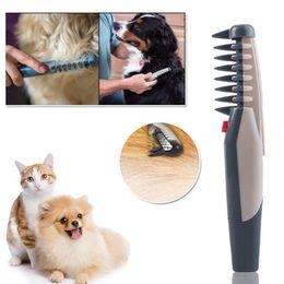 Nó cão pente on-line-Elétrica Dog Pet Grooming Pente Cat Cabelo Trimmer Nó Fora Remover Esteiras Tangles Ferramenta Suprimentos