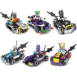 Wholesale Big Building Blocks Children - Super Heroes Batman Action Figures With Car Building Blocks Sets Educational DIY Bricks Toys for Children Funny gifts