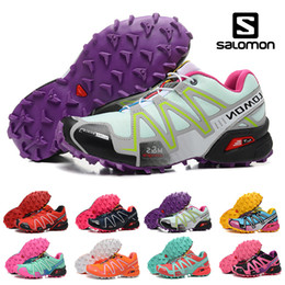 pink crosses Coupons - New Salomon Speed cross 3 CS III Running shoes Black Silver red Pink blue Women Outdoor SpeedCross 3s Hiking Womens sports sneakers 36-41