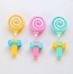 Wholesale cute tapes - Cute Candy Lollipop Correction Tape Erasers Corrector School Office Supply Student Stationery Kids Gift G1256