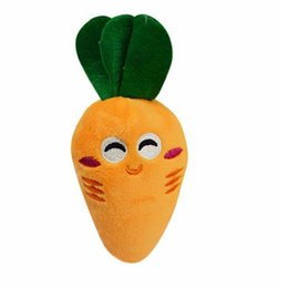 Wholesale Puppy Orange - New Fashion Pet Supply Soft Fleece Smiling Carrot Cute Dog Chew Squeak Toys Contains Sound Air Bag For Small Dog Puppy Factory Price