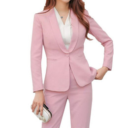 Women 2 Piece Business Blazer Suit Set Slim Fit Professional Female Long  Sleeve Pant Suits Fashion Ladies Office Work Wear 3d0026c1a