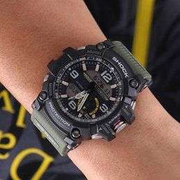 Wholesale Watch Led Waterproof - Men's sports GG1000 luxury watches men watch LED chronograph all function work waterproof with original box