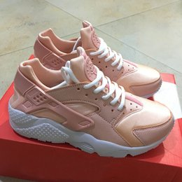 Wholesale High Cut For Womens - 2018 Customised Air Huarache Nude Pink Running Shoes Kylie Boon For Women Light Pink High Quality Huaraches Trainers Womens Fashion Shoes